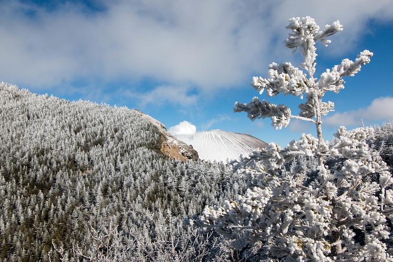 黒斑山 雪山