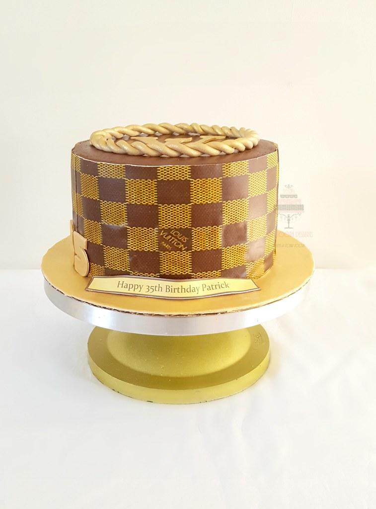 Stupendous Lv 35Th Birthday Cake 9In Lv 35Th Birthday Cake Strawberr Flickr Personalised Birthday Cards Sponlily Jamesorg