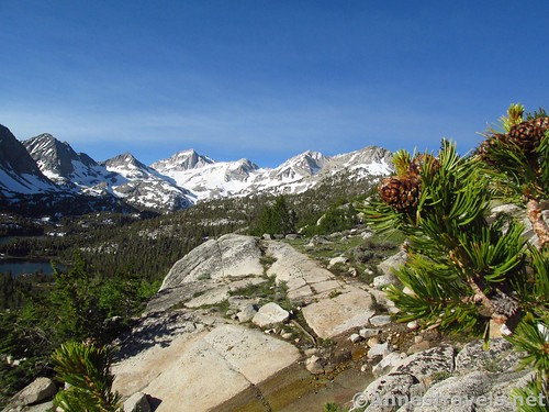 The Little Lakes Basin from the Mono Pass Trail, Inyo National Forest, California