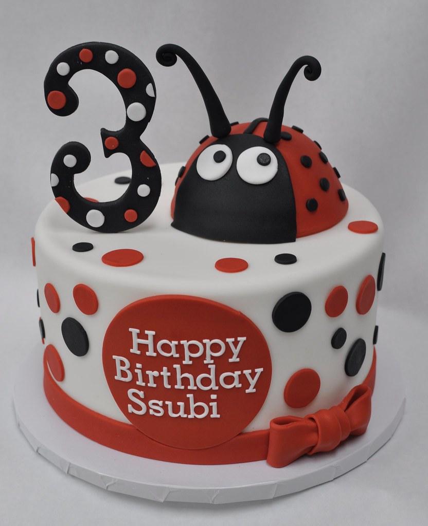 Excellent Ladybug Birthday Cake Jenny Wenny Flickr Personalised Birthday Cards Veneteletsinfo