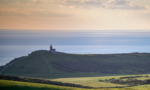 belle tout lighthouse toute decommissioned british landmark beachy head east sussex eastbourne trinityhouse england channel english landscape afternoon light green countryside seven sisters south downs national park sky clouds outdoor lee graduated filter