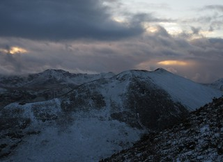 Last light over the High Stile range | by malky_c