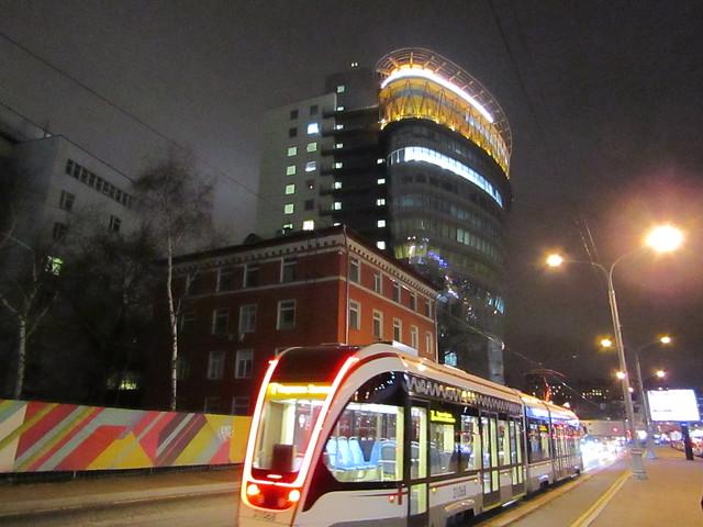 a tram (Durov street)