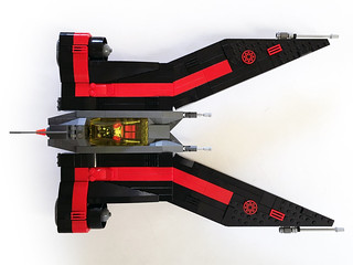 Aurek-Wing Fighter attack mode top   by Oky - Space Ranger
