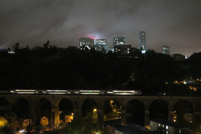 Luxembourg by night-Kirchberg