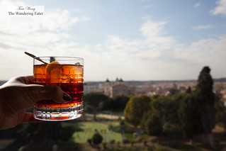 Negroni Speziato with a view | by thewanderingeater
