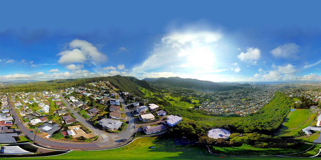Above Na Pueo (the Hawaiian Owls) Park on Alewa Heights