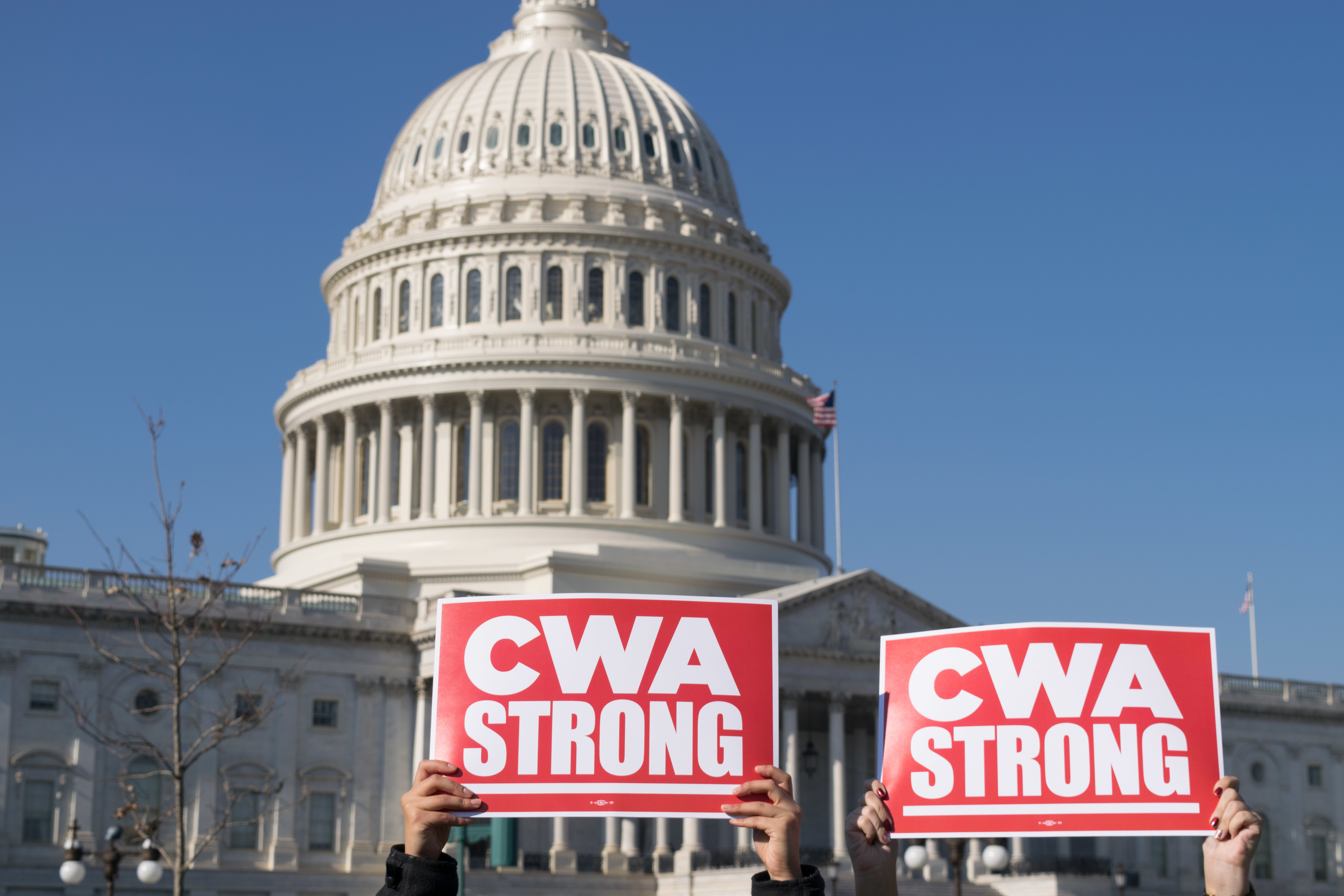 CWA STRONG at the US Capitol
