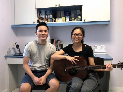 Private guitar lessons Singapore Yen Lin
