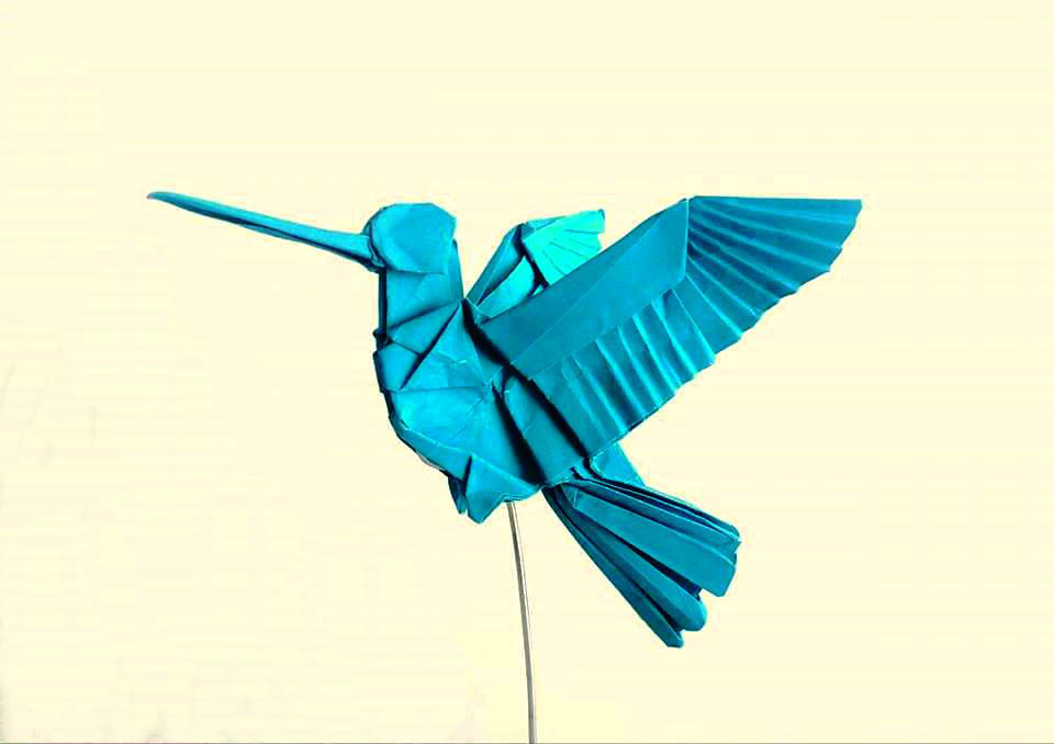 How to make an origami hummingbird - The Paperdashery | 678x960