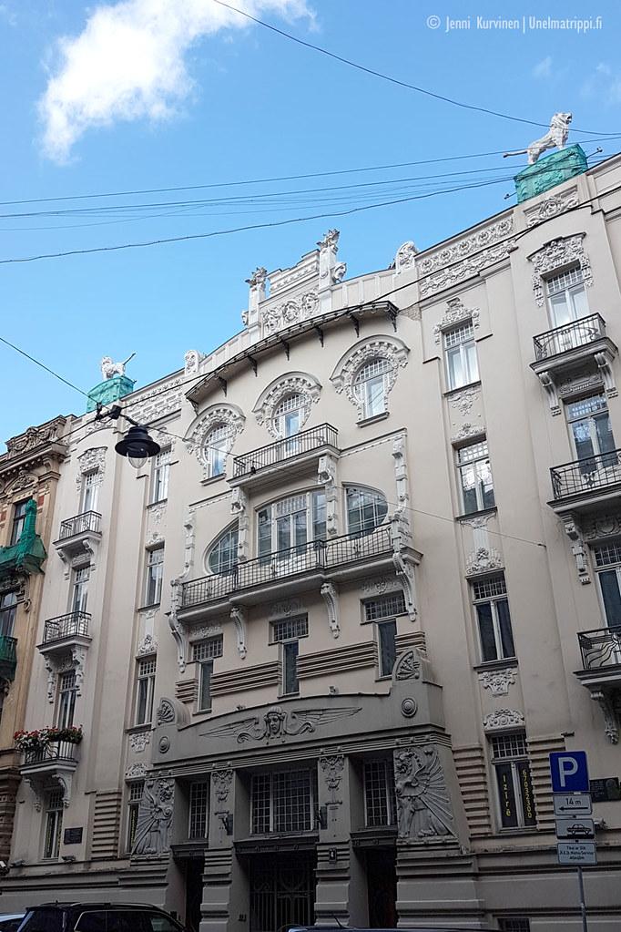 Riian art nouveau -rakennuksia