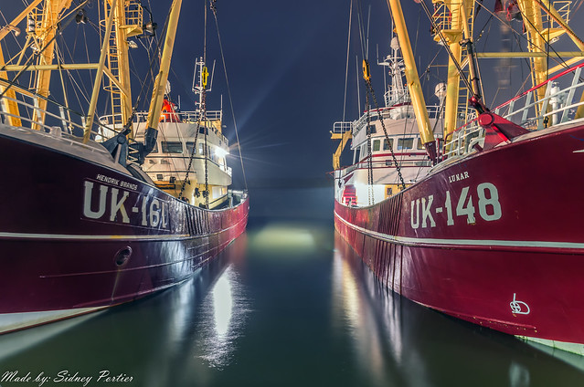 De Nieuwe Vissershaven in Harlingen op zaterdag 2 december 2017
