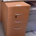 Beech desk high ped E80