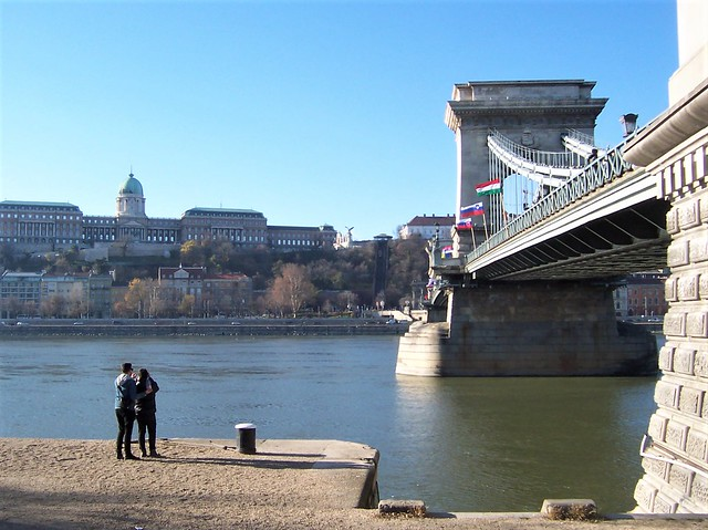 The Chain Bridge across the Danube, looking towards Buda