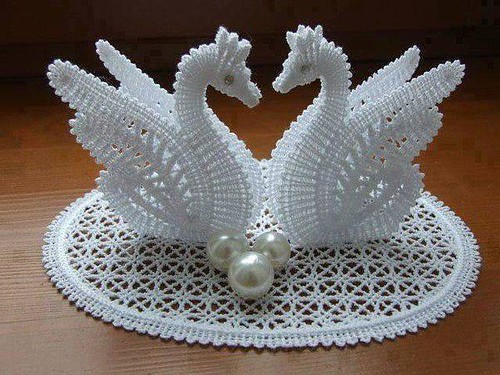 😱😍😍 I loved this swan in crochet simple and delicate model see step by step I loved it