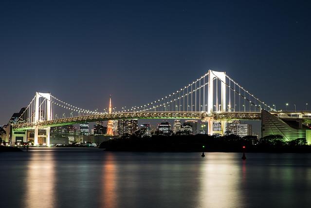 Odaiba - rainbow bridge - Tokyo
