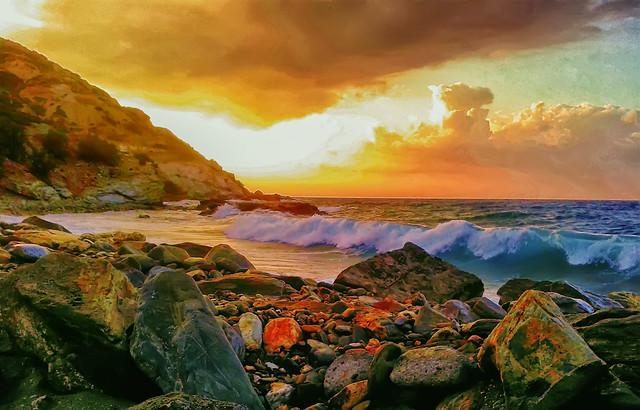 A Storm at the Crete's coast