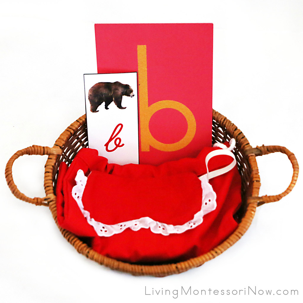 Letter B Object Basket With Mystery Bag And Blindfold