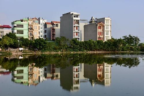 hanoi vietnam village heritage landscape waterscape periphery urbandevelopment jacquesteller nikond7200 cityscape water pond reflexion
