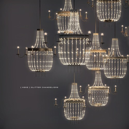[ keke ] glitter chandeliers | by [ keke ] by Kean Kelly
