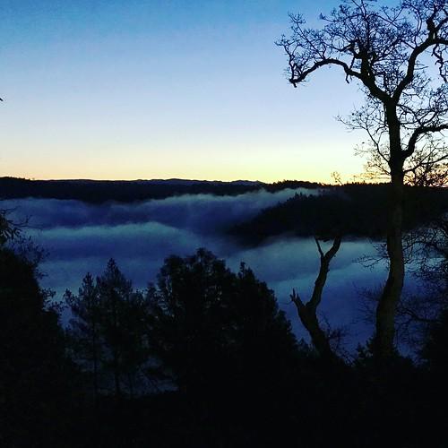 auburnfit auburnca exploreauburnca fog morningrun optoutside americanrivercanyon sunrise