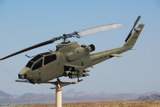 AH-1F Cobra 66-15350 (0-15350) ex U.S.Army. Gate-Guard, Yuma Proving Grounds, Arizona. 3rd of June 2016.