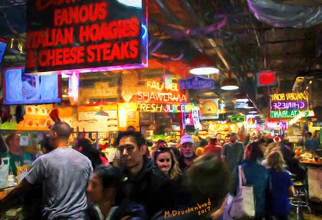 Crowded Walkways in the Reading Terminal Market in Philly