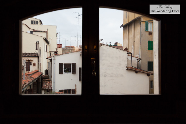 View from the first floor of Canto del Giglio Rosso