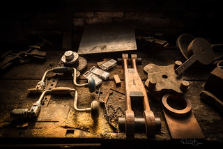 The carpenter's bench in Soule Steam Feed Works in Meridian Mississippi...