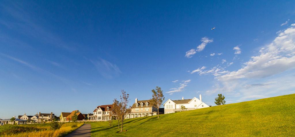 Blue Sky Summer Green Grass Housetop Background Clipart Flickr