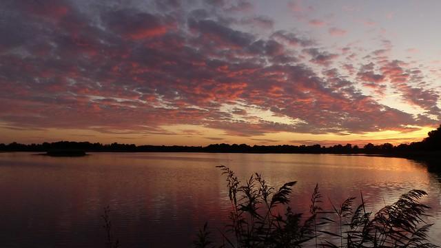 coucher de soleil sur la Brenne - Indre