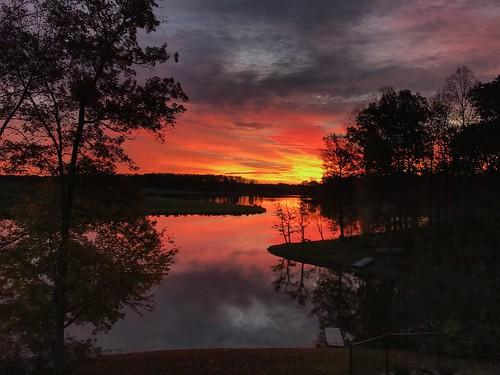 virginia morning colors lake water sunrise