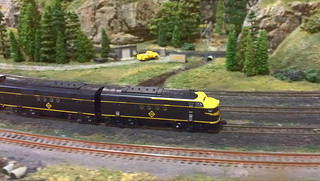 Dave Thompson's Erie FTs traverse though the upgraded scenery on Gray Rock