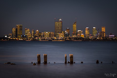 Perth City Scape from Applecross jetty