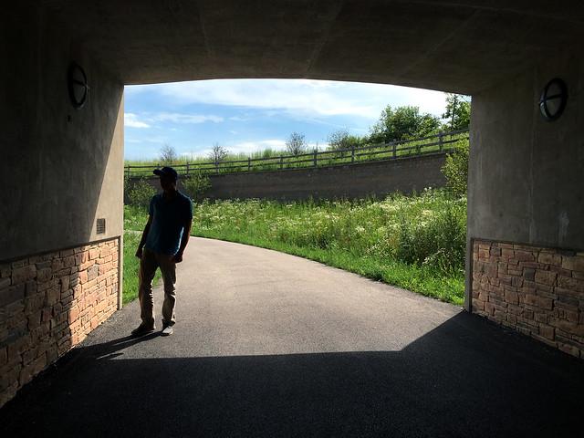 Pedestrian Tunnel Silhouette