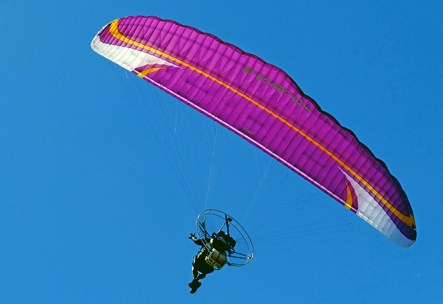 Powered paragliding.