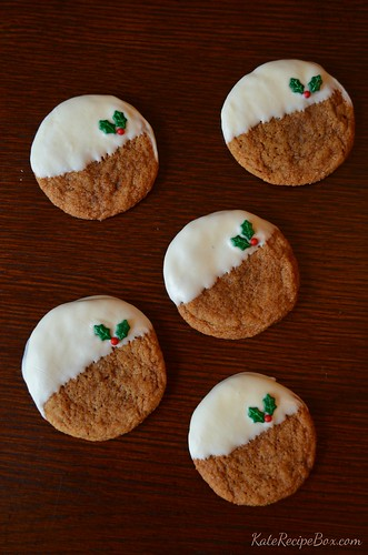 WhiteChocolateDippedGingerCookies | by katesrecipebox