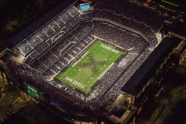Kyle Field at Night