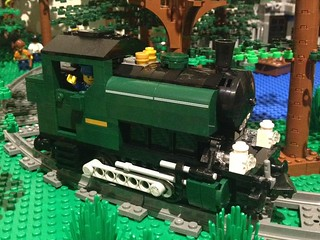 LEGO 0-4-0 Pannier Tank Locomotive In Dark Green | by CanvasRails