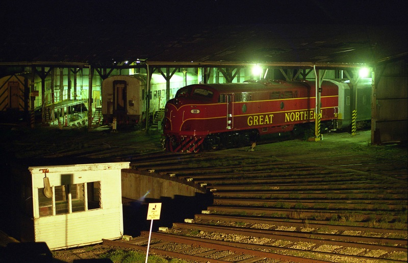 Tailem Roundhouse at night by David Arnold