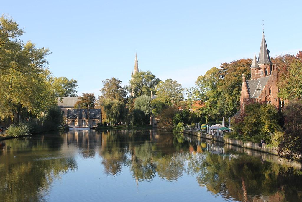 Postales de Brujas - Lago Minnewater
