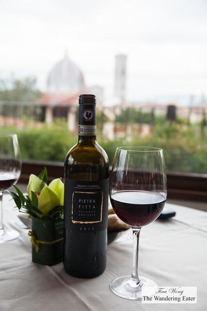 Pietrafitta Chianti Classico 2013 with a view