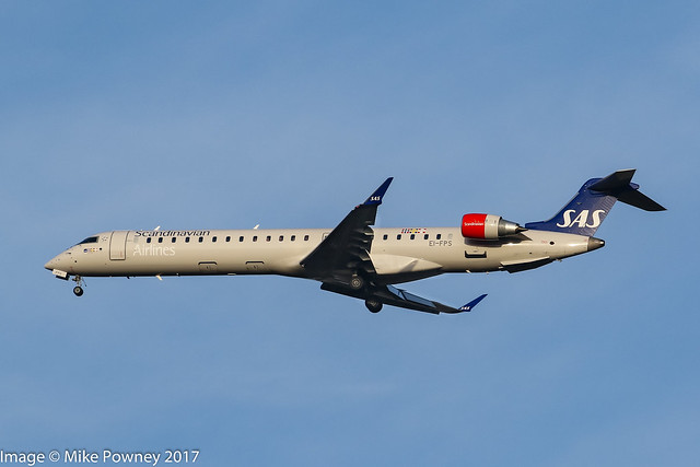 EI-FPS - 2017 build Bombardier CRJ900LR NG, on approach to Runway 23R at Manchester