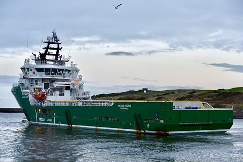 Havila Borg - Aberdeen Harbour Scotland 19/11/17   by DanoAberdeen