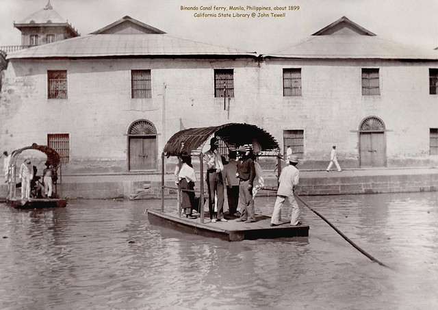Binondo Canal ferry, Manila, Philippines, about 1899