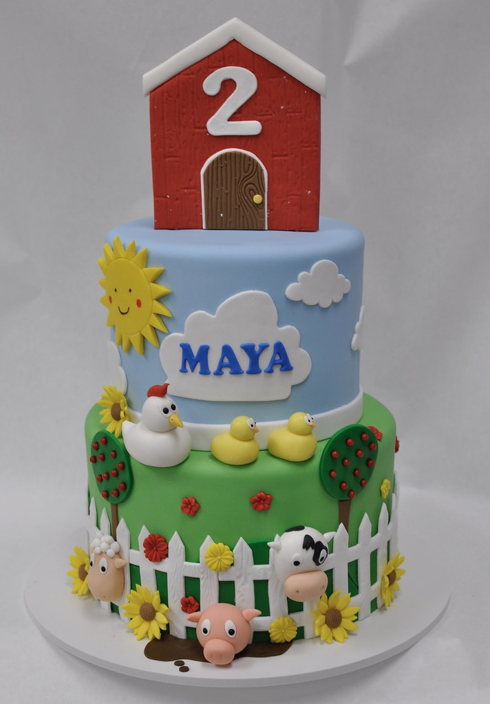 Tremendous Farm Themed Birthday Cake All Vegan Farm Themed Birthday C Flickr Funny Birthday Cards Online Sheoxdamsfinfo
