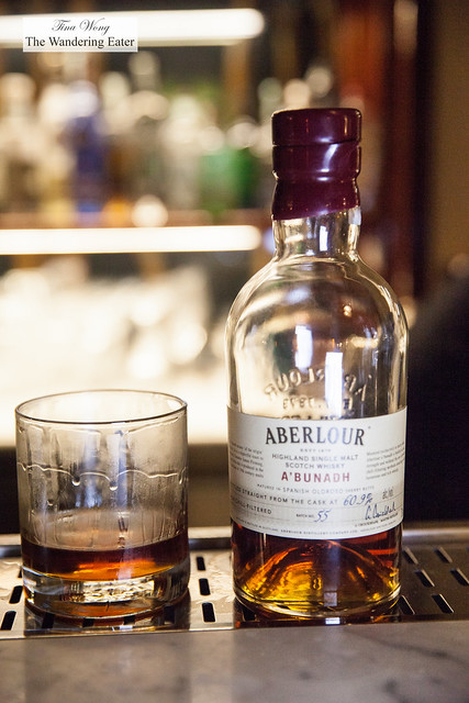 Making The Rocker - Whisky Aberlour A'Bunadah, Figaro fig liqeur