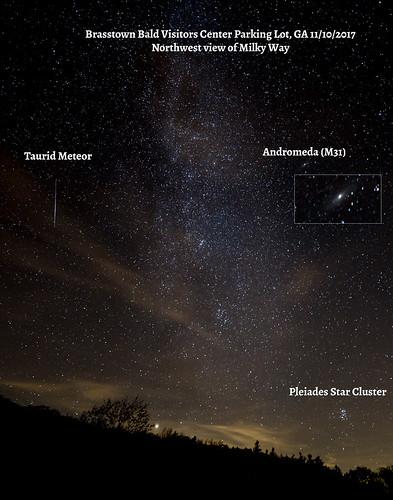 nightsky november georgia meteor andromeda 2017 ©carlfredrickson2017 pleiades ga brasstownbaldvisitorscenter carlfredrickson northwestview blairsville unitedstates us