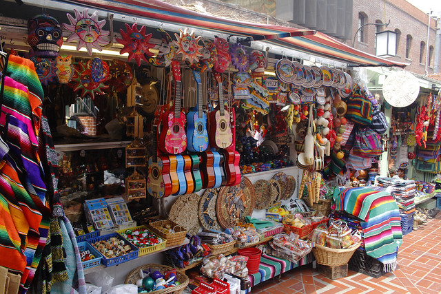 Bright Shops at Olvera Street