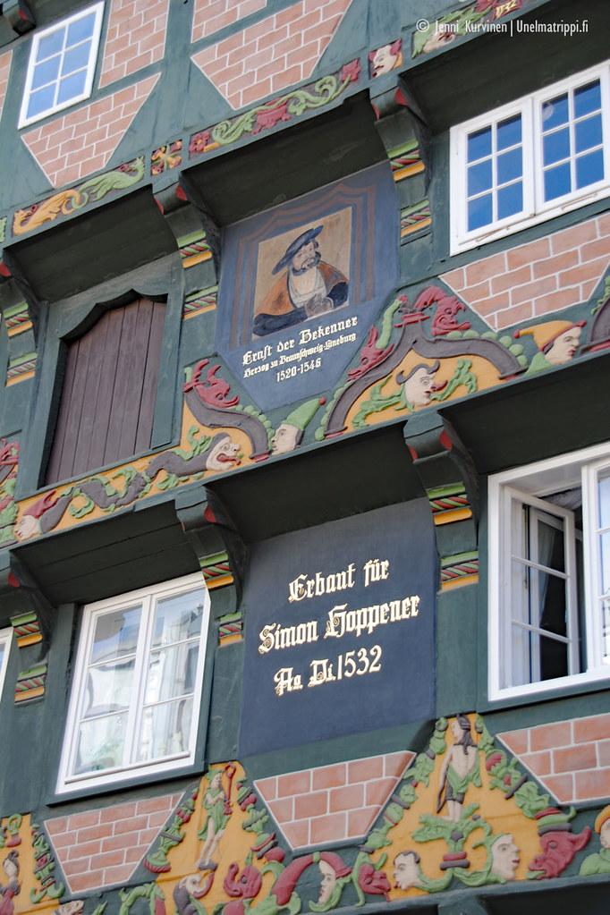 Vanhan talon koristeita Cellessä